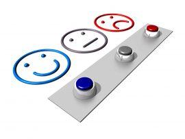 botones con carita triste seria y feliz