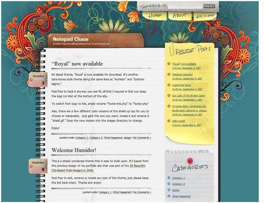 Bloc de notas Chaos - captura de pantalla
