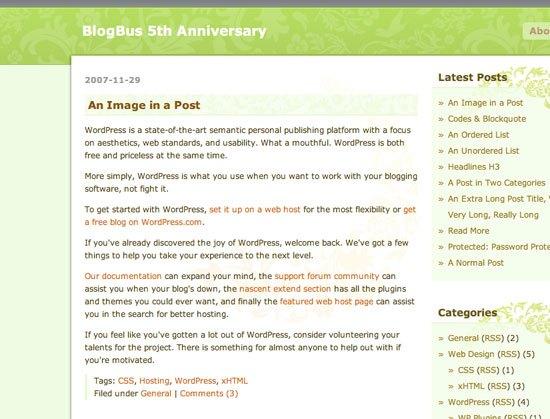 BlogBus: captura de pantalla.