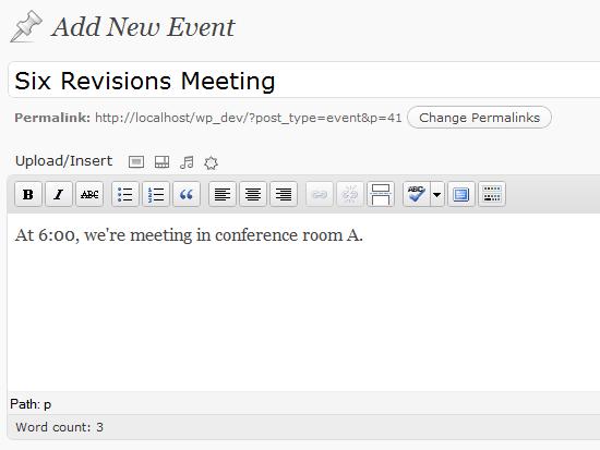 Tipo de publicación personalizada de WordPress