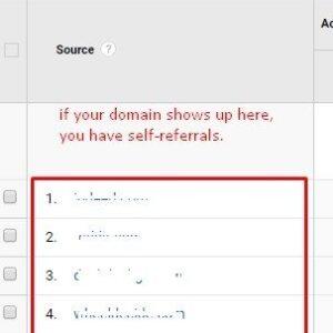 Cómo corregir las autorreferencias en Google Analytics