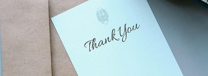 Páginas de agradecimiento | 5 ejemplos