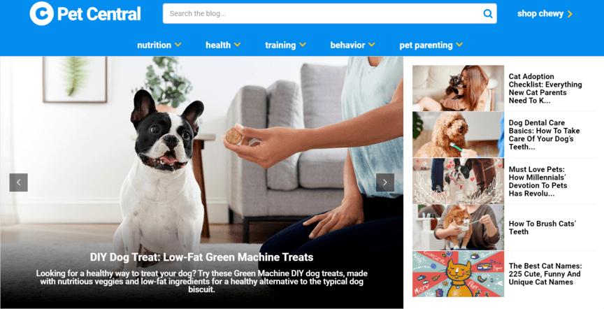 Ejemplo de blog de marketing digital