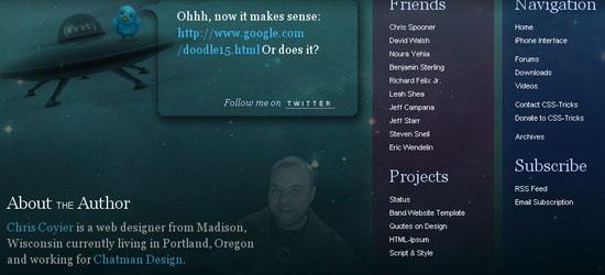 Trucos CSS: captura de pantalla en el pie de página.