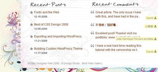 Web Designer Wall: captura de pantalla de pie de página.