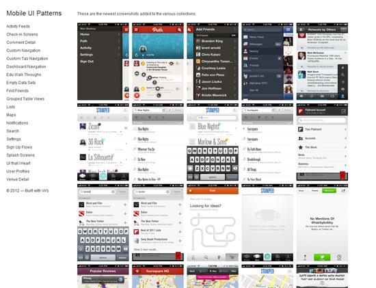 Patrones de interfaz de usuario móvil