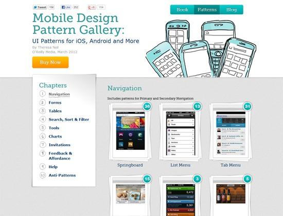 Galería de patrones de diseño móvil