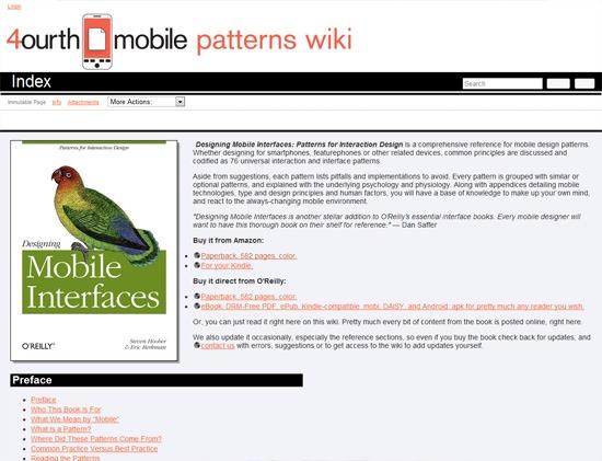 Cuarta biblioteca de patrones de diseño móvil