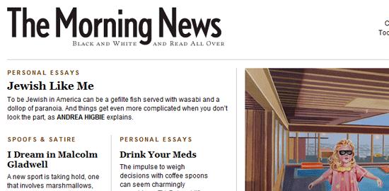 The Morning News: captura de pantalla.