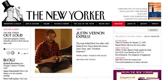 The New Yorker: captura de pantalla.