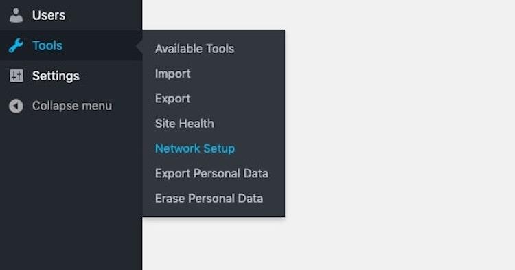 Configuración de la red de herramientas