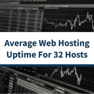 Tiempo de actividad promedio de alojamiento web en 2018 para 32 hosts