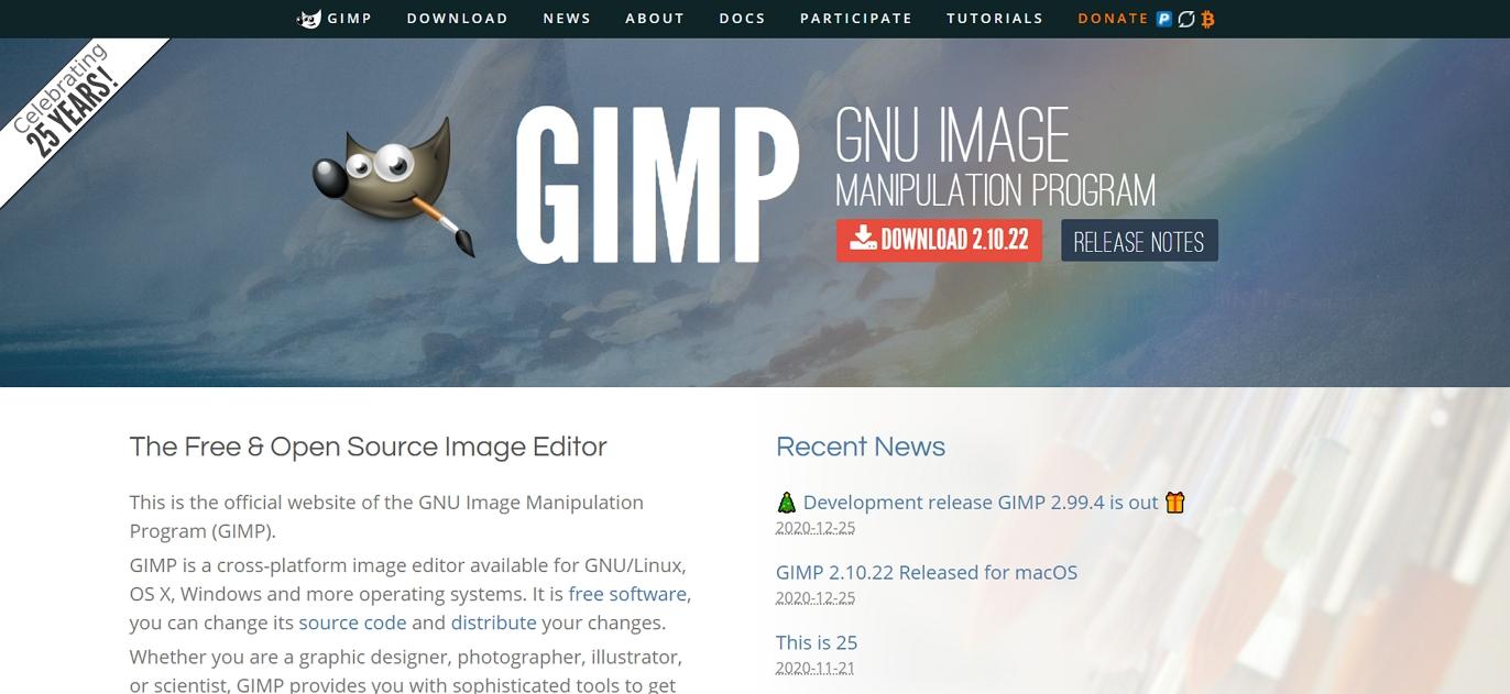 Editor de imágenes de código abierto GIMP