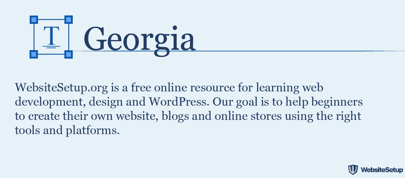 Fuente Georgia