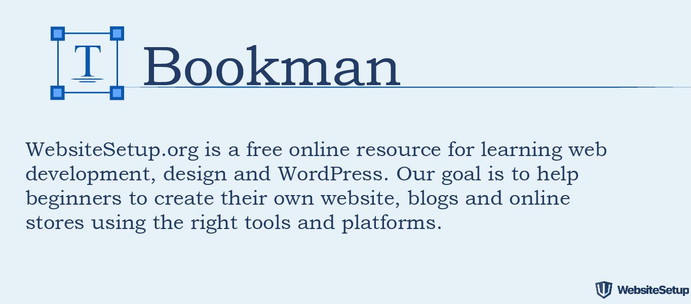 Fuente Bookman