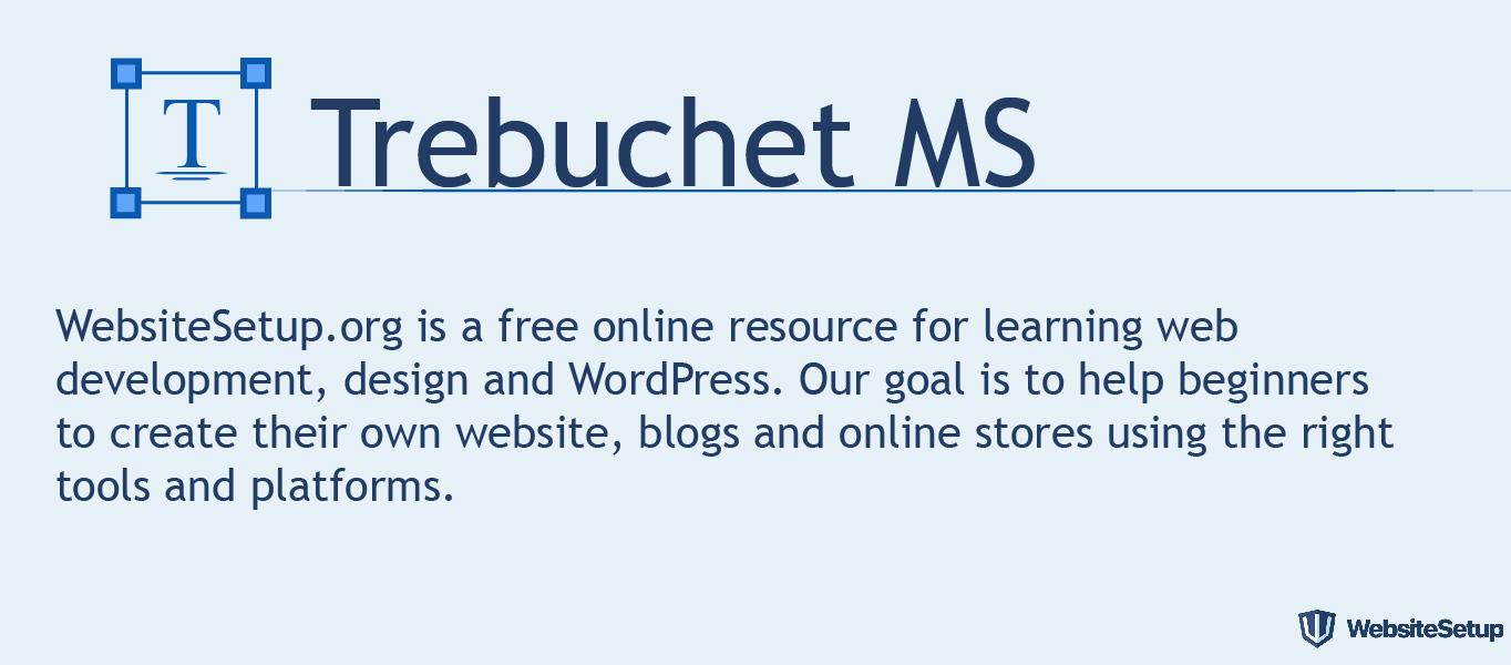 Fuente Trebuchet MS