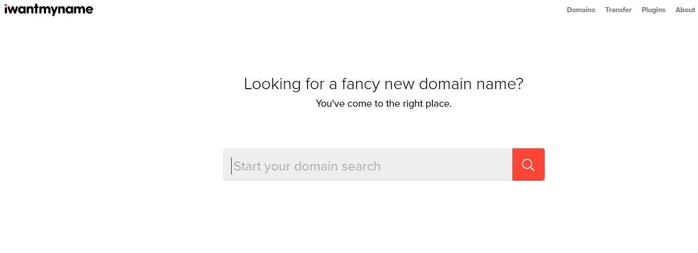 Generador de nombres de dominio IWantMyName