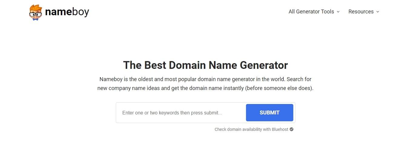 Generador de nombres de dominio NameBoy