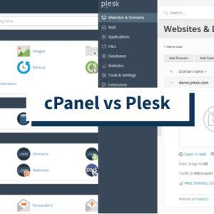 cPanel vs. Plesk - ¿Cuál es el mejor panel de control de alojamiento?