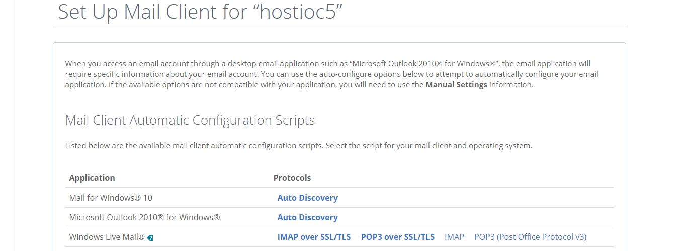 Configuración de correo electrónico de Bluehost