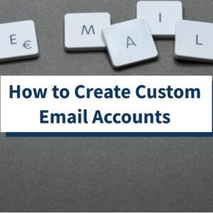 Creación de cuentas de direcciones de correo electrónico personalizadas con su nombre de dominio