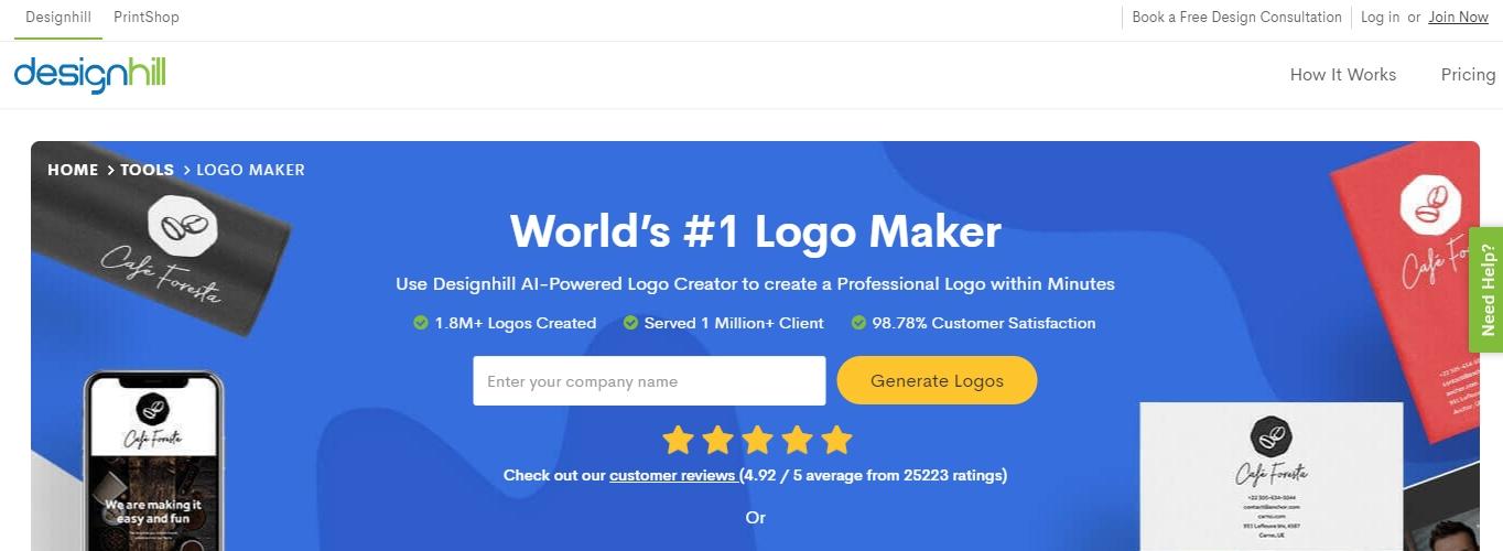 Creador de logotipos Design Hill