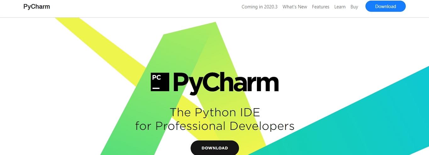 Sitio web de PyCharm IDE