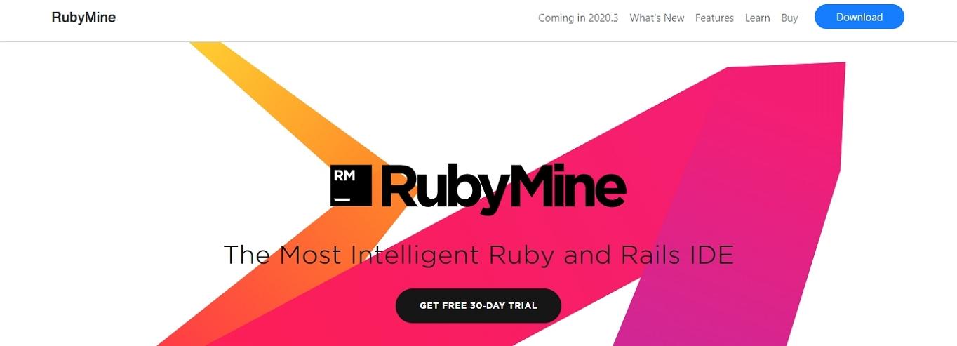 Sitio web de RubyMine IDE