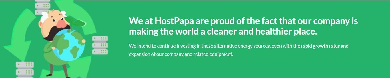 Energía verde de HostPapa