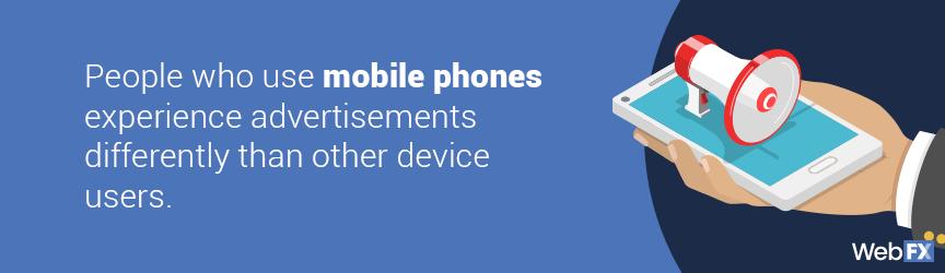 los anuncios se ven diferentes en el móvil