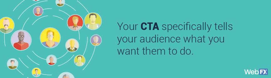 Los ctas le dicen a su audiencia lo que quiere que hagan.