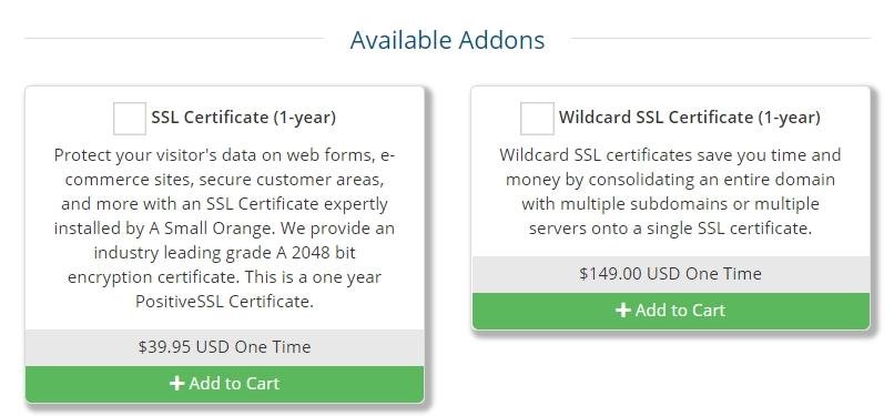 Precios del certificado SSL de Site5
