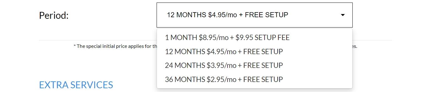 Desglose de precios de TMDHosting