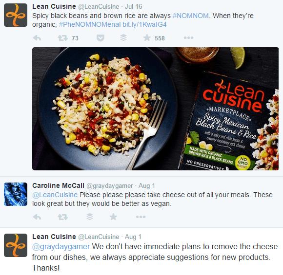 ejemplo de marca: cocina magra comentario vegano