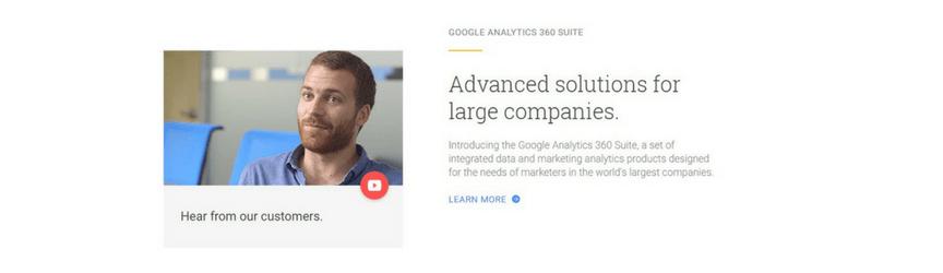 captura de pantalla del sitio web de Google Analytics