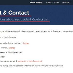 Acerca de y página de contacto | websitesetup.org