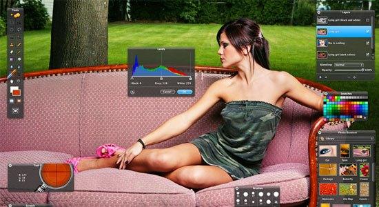Captura de pantalla de Pixelmator.
