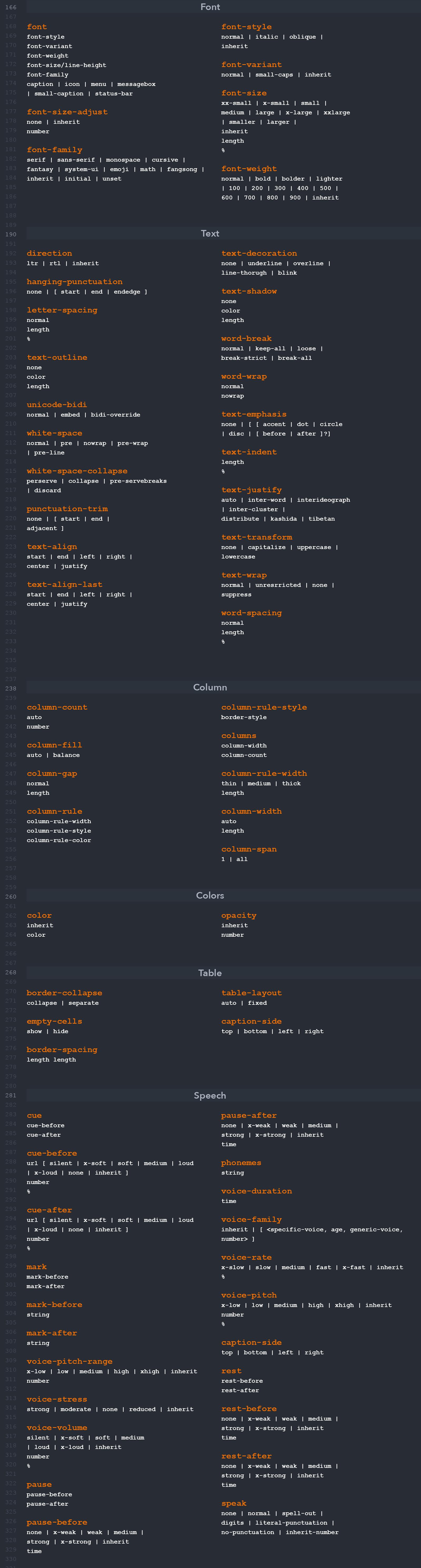 Hoja de trucos CSS P2
