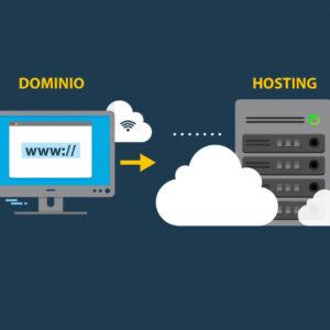 Alojamiento web frente a nombre de dominio (explicación)