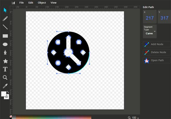 Editar un icono SVG usando un editor de vectores en línea llamado Method Draw
