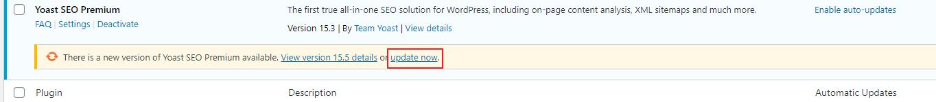 Actualizaciones del complemento de WordPress