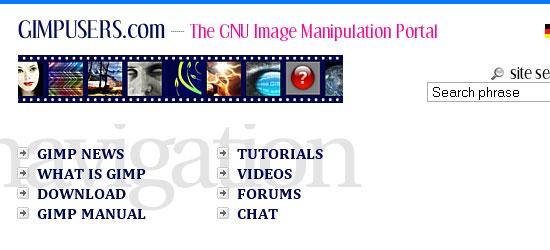 gimpusers.com: captura de pantalla.