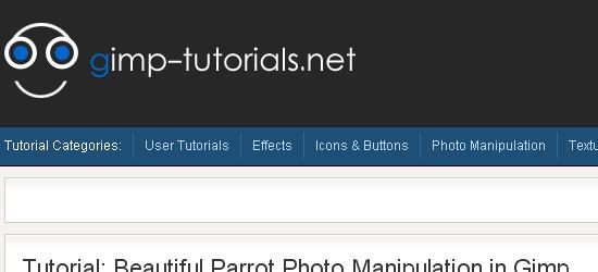 Gimp-tutorials.net: captura de pantalla.