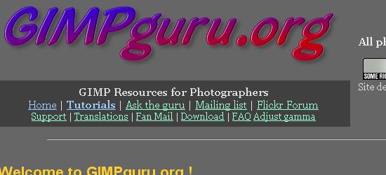 GIMPguru.org: captura de pantalla.