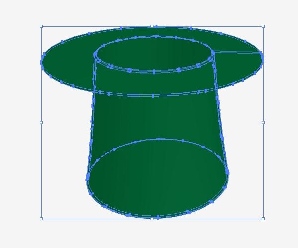 Crea la forma de referencia del sombrero