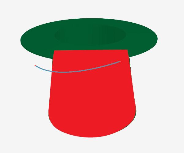 Dibuja la parte superior del sombrero