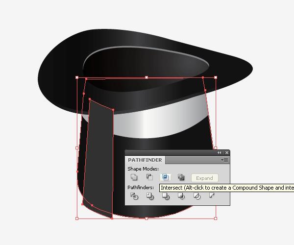 Crea reflejos de luz en el sombrero