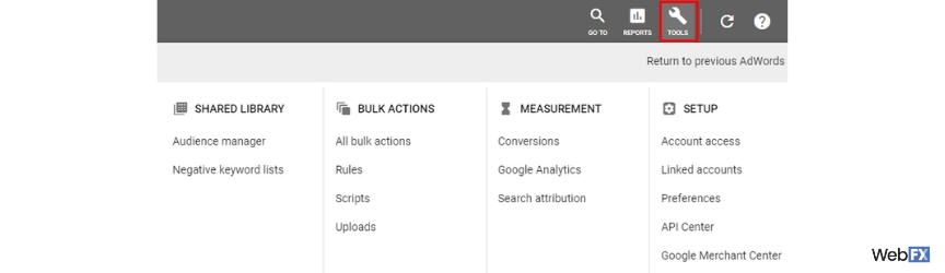 Una captura de pantalla del primer paso para crear una audiencia en Google Ads