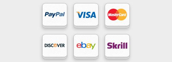 Conjunto de iconos de pago en línea gratuito (PSD y PNG)