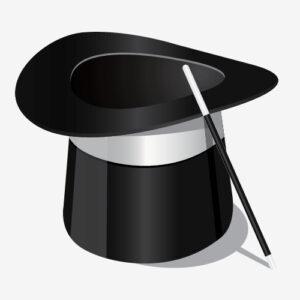 Dibujar un sombrero de mago en Illustrator